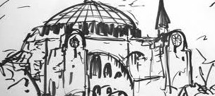 Mosque, istanbul, sketch